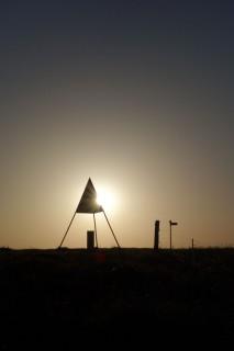 Triangulationspunkt Röti - Sonnenuntergang