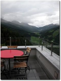 Aussicht von der Zimmerterrasse im Hotel Alpenrose - Sta. Maria