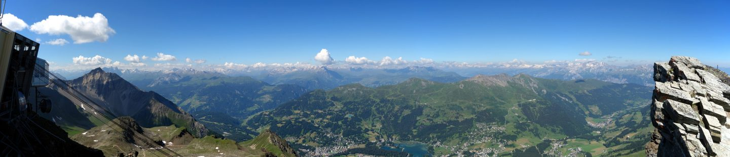 Panorama Parpaner Rothorn Richtung West