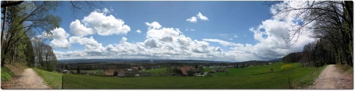 Panorama ins Mittelland ob Riedholz