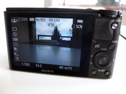 Sony DSC-RX100 Display