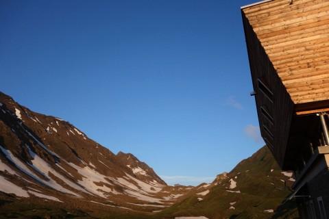 Sonnenaufgang SAC Hütte