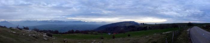 Panorama Salève in Richtung La Croisette
