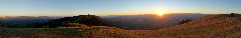 Sonnenuntergang Salève - Panorama