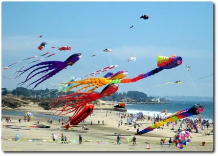 Drachenfestival - Santa Cruz Beach