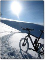 Schneebiken Sonne