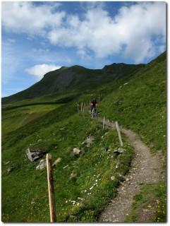 Trailspass vor der Alp Stätz