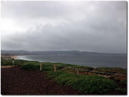 Es regnet über der Monterey Bay