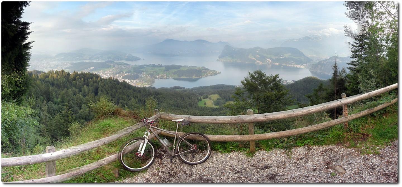 Panorama vom Schönenboden auf den Vierwaldstättersee