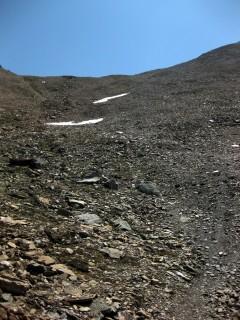 Schotterabfahrt Col de Louché