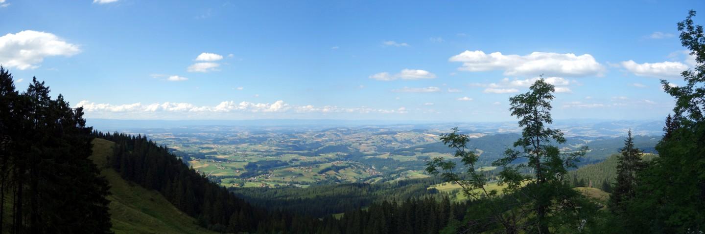 Panorama Schwarzenbühl ins Schwarzenburgerland