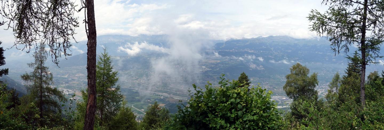 Panorama in Wallis ob Sex blanc