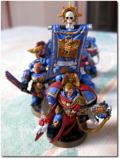 Lord Sicarius und seine Space Marines