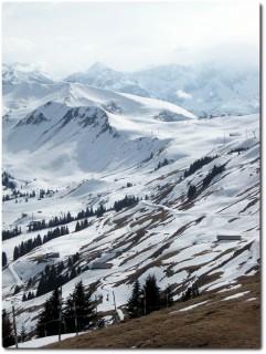 Wenig Schnee in Adelboden...