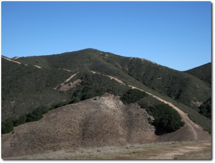Extrem steile Dirt Road rauf zum Simas Peak