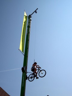Skybike - spannend!