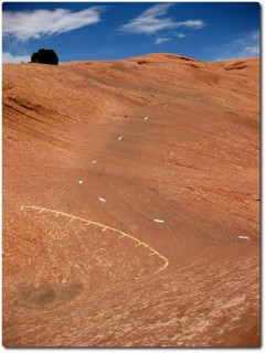 Slickrock Bike Trail - Markierungen