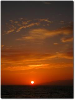 Santa Monica - Sonnenuntergang mit Filter...