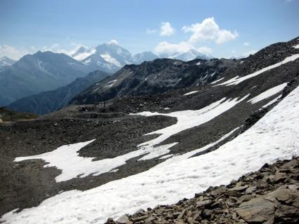 Knifflige Passage am Col de Louché