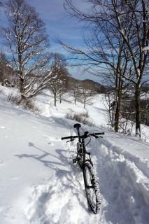 Schneeschuhtrail in Richtung Stierenberg