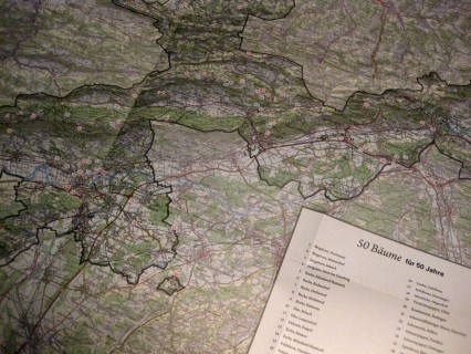 Karte mit den Bäumen