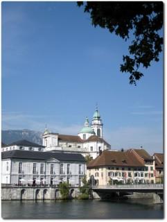 Warme Sonnenstrahlen in Solothurn