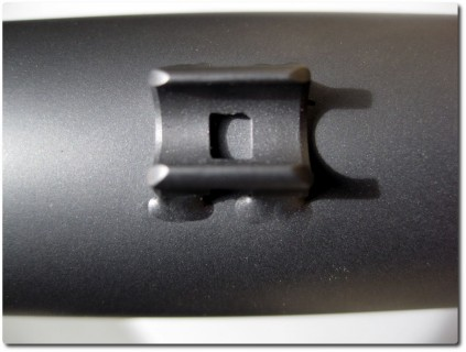 Titanrahmen - Detailaufnahme Bremsleitungshalter