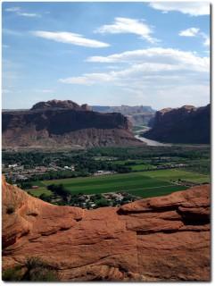 Slickrock Bike Trail - Blick auf Moab