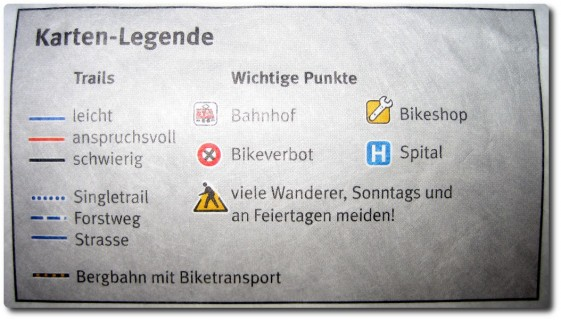 Trailbewertung Swiss Singletrail Maps