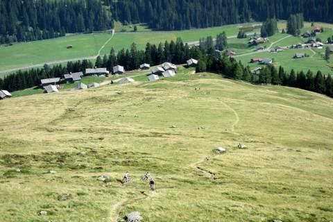 Abfahrt Chörbschhorn mit Blick auf Stafelalp