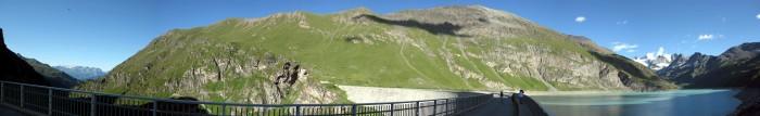 Panorama Staumauer Lac de Moiry