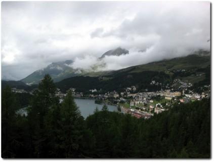 Blick auf St. Moritz vom Fullun