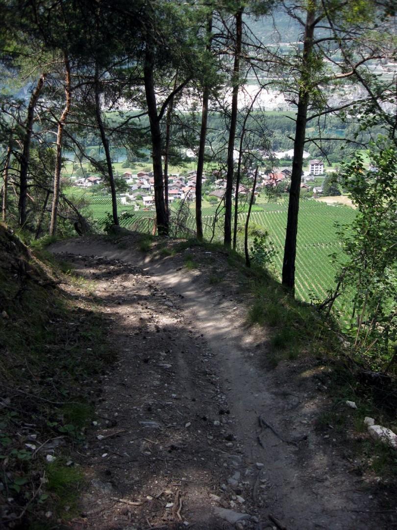 Letzte steile Rampe ins Tal