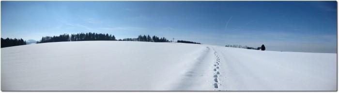 Winterpanorama bei der Enklave Steinhof