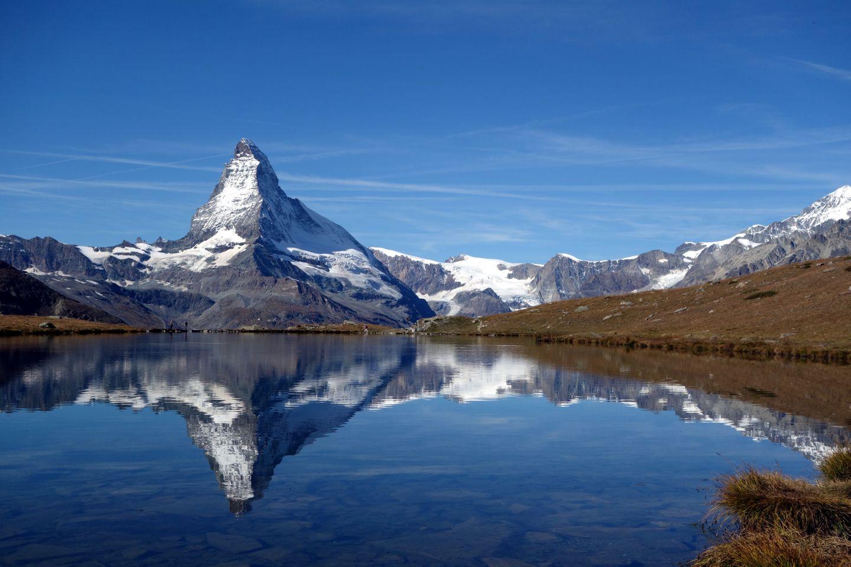 Matterhorn gespiegelt im Stellisee