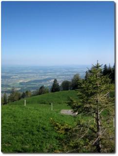 Blick von Stierenberg auf das Mittelland