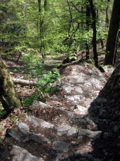 Stigelos - Steintreppen