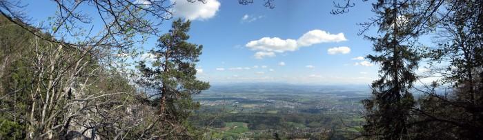 Blick vom Stigelos ins Mittelland - Panorama