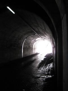 Aufstieg zum Col du Sanetsch - Tunnel