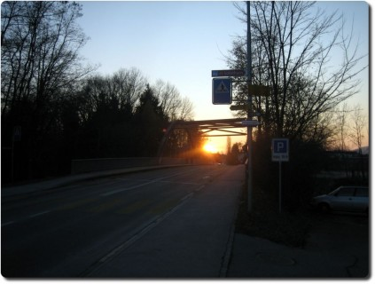 Sonnenuntergang in Bätterkinden