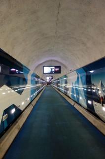 Stollen zur Sunnegga Standseilbahn im Tunnel