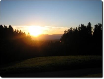 Höchalp beim Sonnenuntergang
