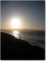 Abendsonne über Monterey Downtown