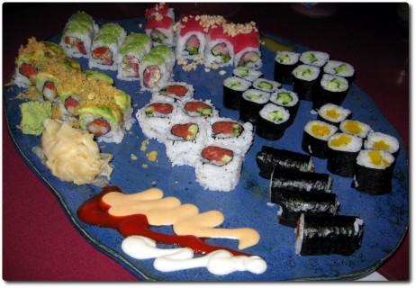 Sushi-Rolls im Crystal Fish