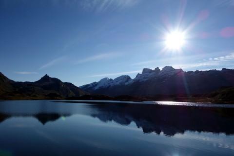 Tannensee in der Morgensonne