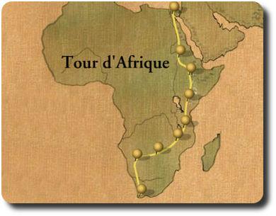 Tour d'Afrique - Karte