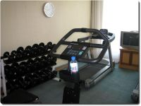 Temporärer Gym im Hotel