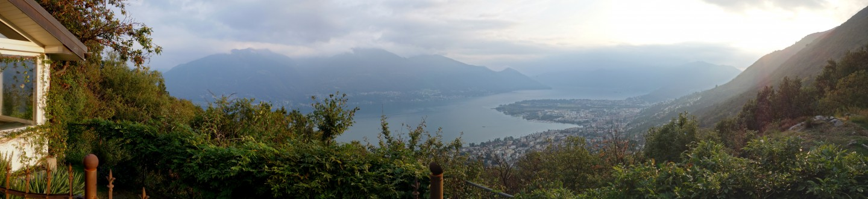 Ferienhaus Tendrasca - Panoramablick über den Lago Maggiorepano