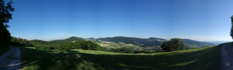 Oberhalb Thalheim - Blick ins Baselland