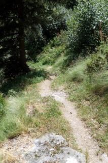 Sehr steiler Abstieg nach Fionnay